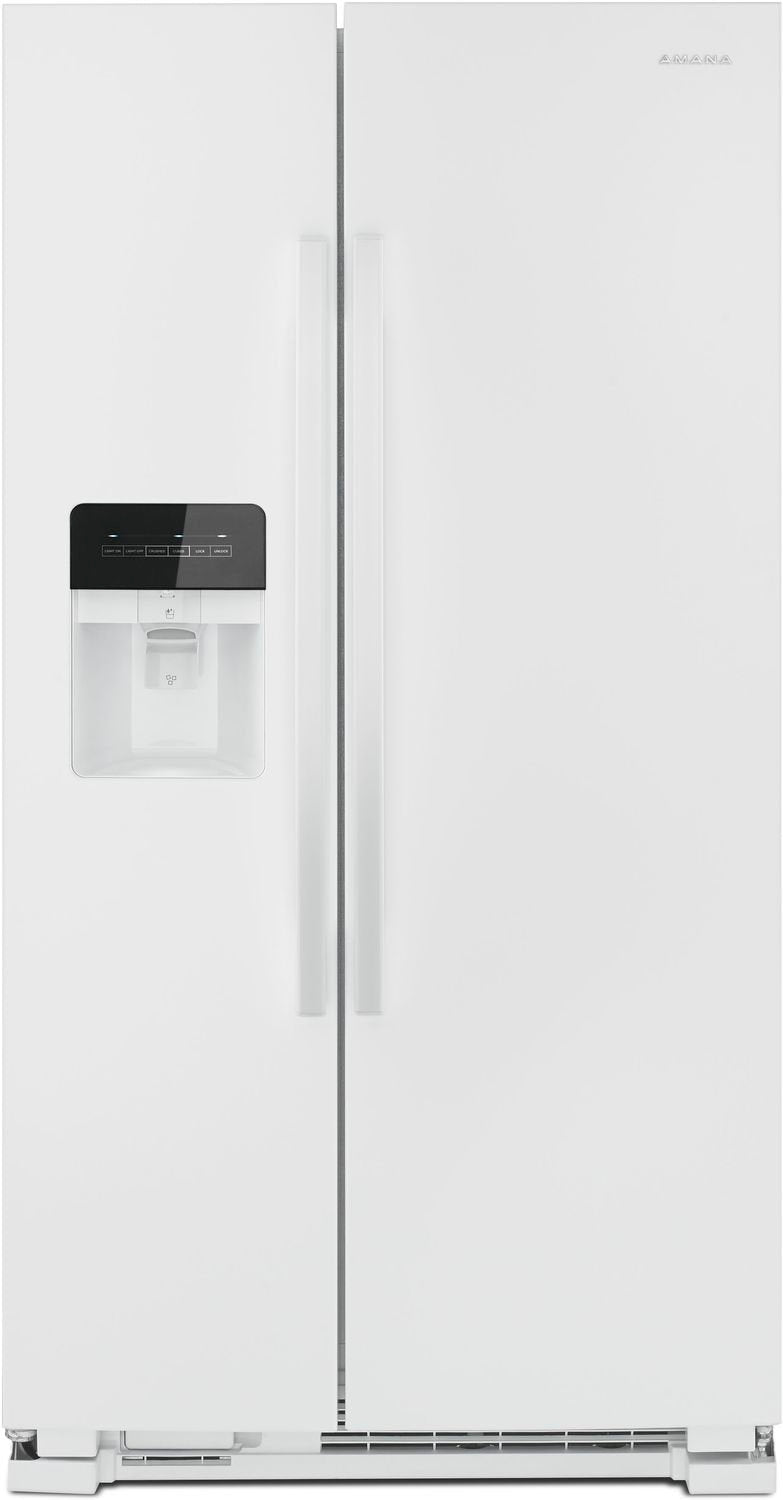 Image of Amana White Side-by-Side Refrigerator (21.4 Cu. Ft.) - ASI2175GRW