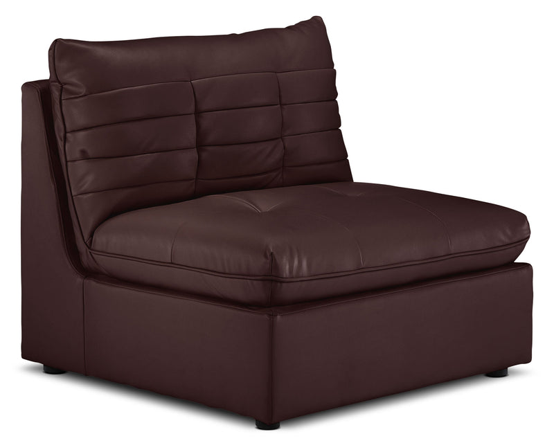 Cortina Armless Chair - Chocolate