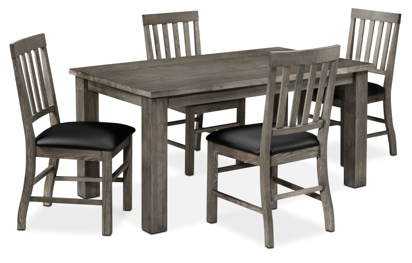Porter 5 Piece Dining Room Set Slate And Black Leon S