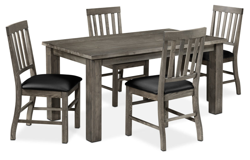 Porter 5-Piece Dining Room Set - Slate and Black