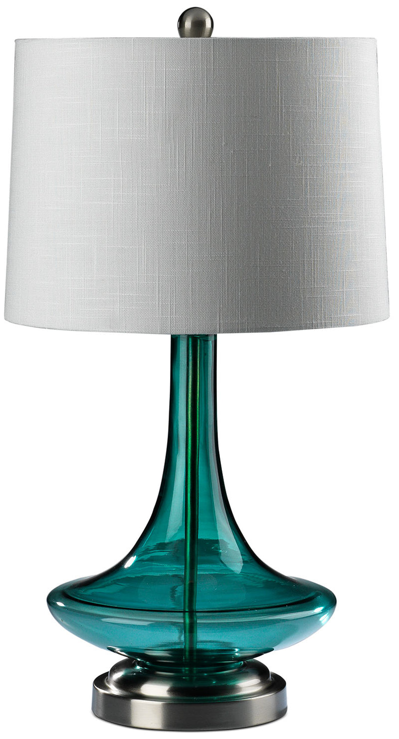"Jeanie 27"" Table Lamp - Blue Glass"