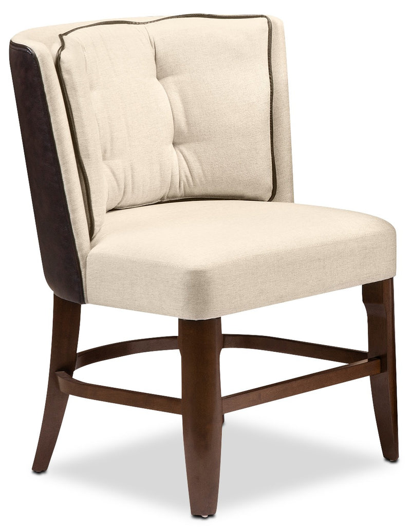 Casabel Side Chair - Cherry and White