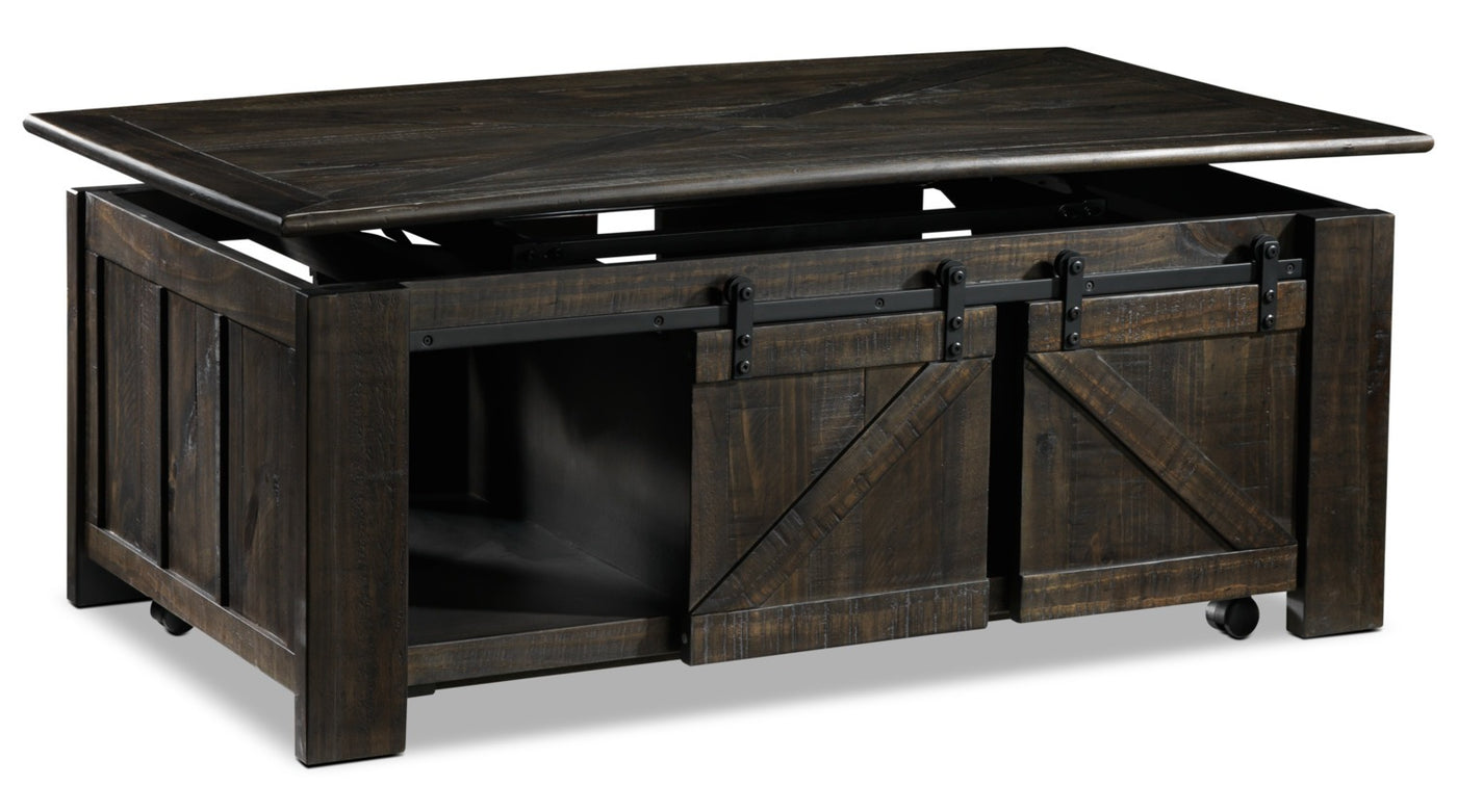 Coffee Table.Gable Lift Top Coffee Table Weathered Charcoal