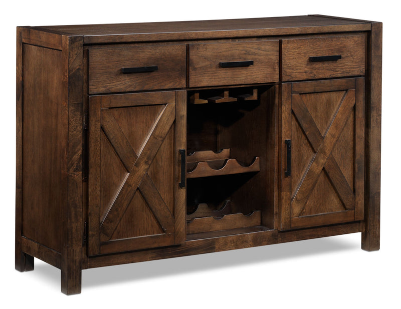 Claira Server - Rustic Brown