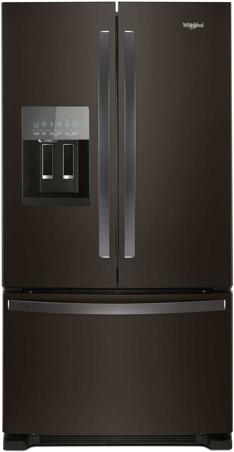 Image of Whirlpool Black Stainless Steel French Door Refrigerator (25 Cu. Ft.) - WRF555SDHV