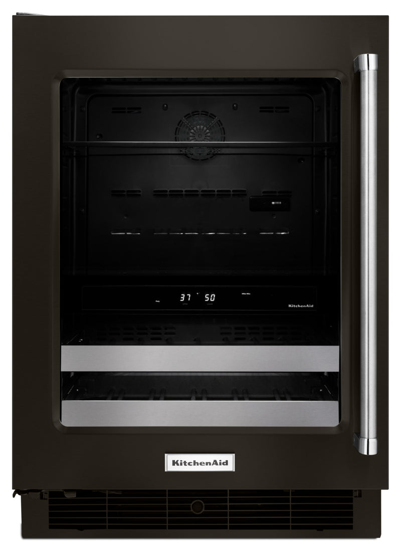 KitchenAid Black Stainless Steel Beverage Centre (4.8 Cu. Ft.) - KUBL304EBS