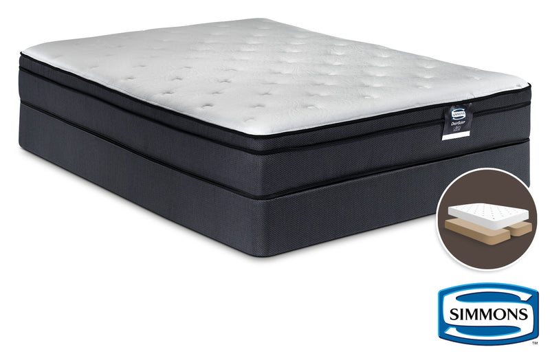 Simmons DeepSleep Ultra Jenna II Firm Queen Mattress and Split Boxspring Set