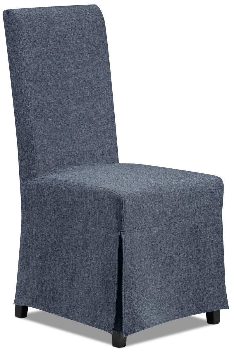 Glambrey Slip Chair w/ 2 Covers - Denim and Slate