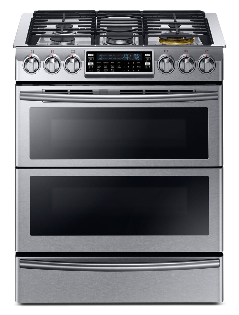 Samsung Stainless Steel Slide-In Dual Fuel Convection Range (5.8 Cu. Ft.) - NY58J9850WS/AC