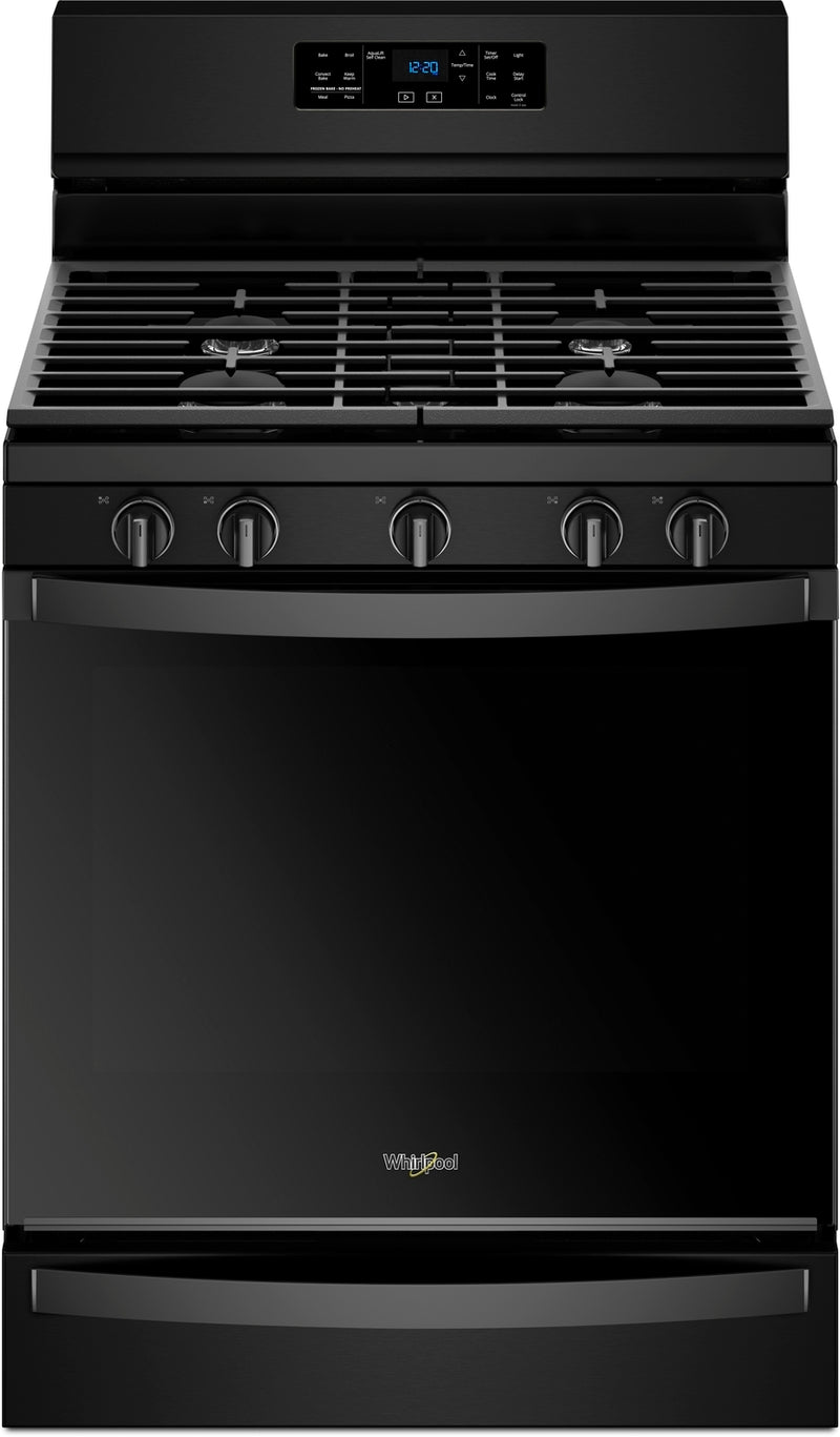Whirlpool Black Freestanding Gas Convection Range (5.8 Cu. Ft.) - WFG775H0HB