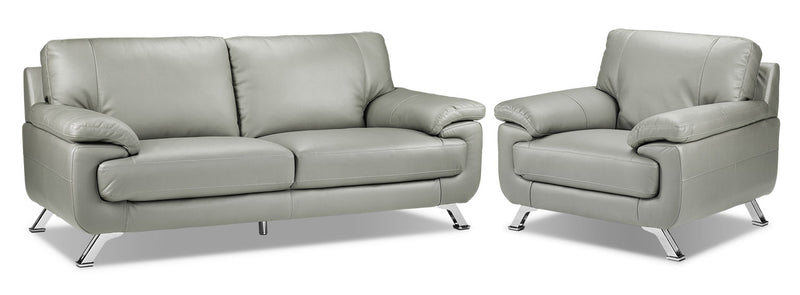 Infinity Sofa and Chair Set - Light Grey
