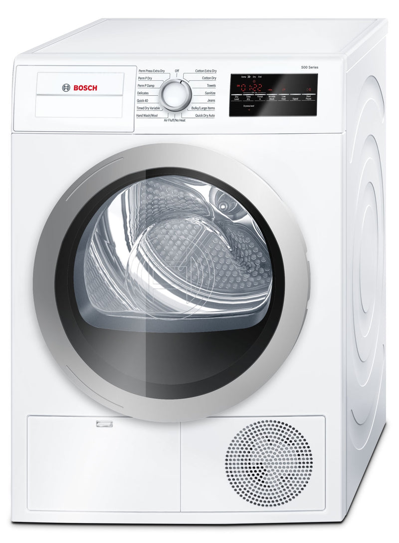 Bosch White and Silver Electric Dryer (4 Cu. Ft.) - WTG86401UC