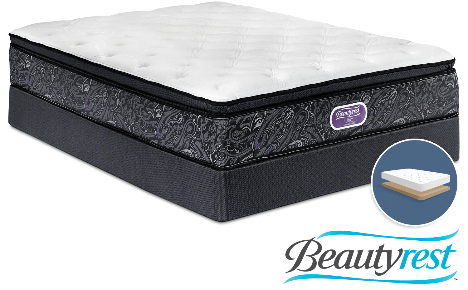 Simmons Beautyrest Ultra Silvia Firm Queen Mattress And Low Profile