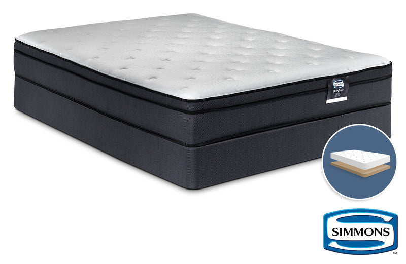 Simmons DeepSleep Ultra Jenna II Firm Full Mattress and Low-Profile Boxspring Set