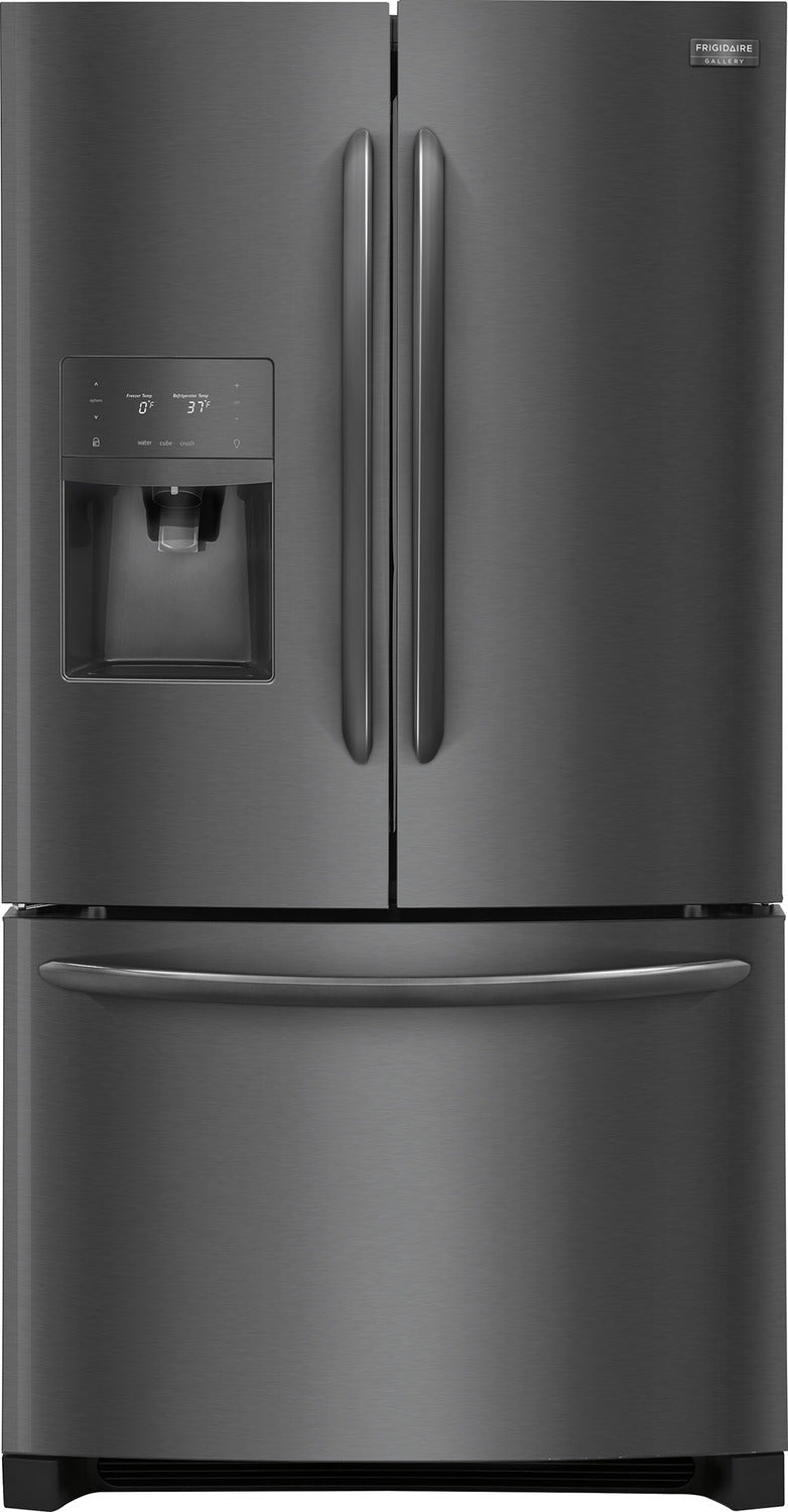 Frigidaire Gallery Black Stainless Steel French Door Refrigerator  (21.7 Cu. Ft.) - FGHD2368TD