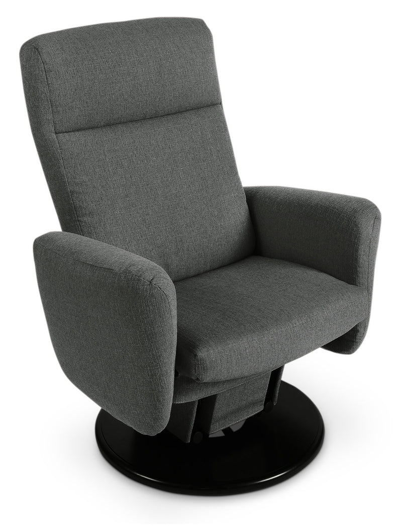 Cydney Swivel Glider Recliner - Dark Grey