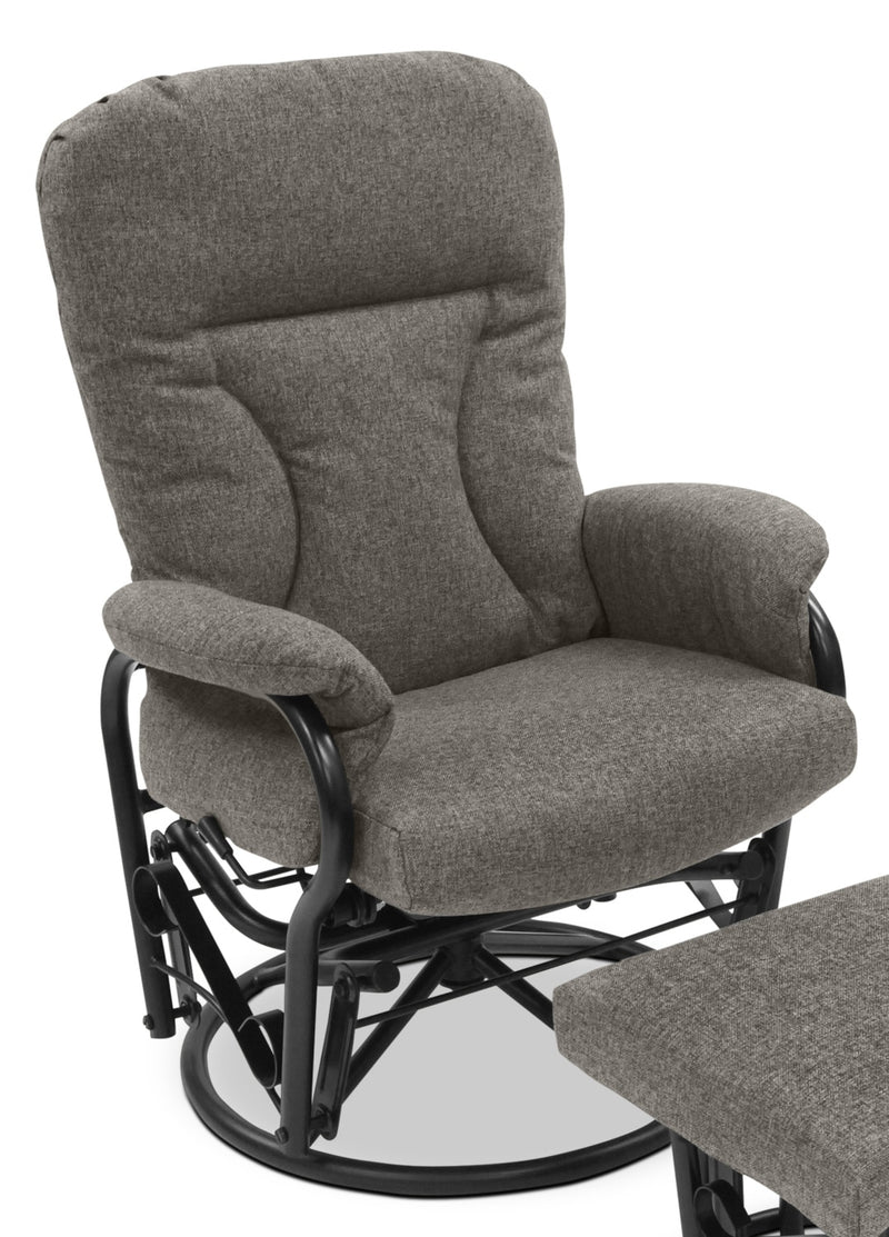 Sullivan Swivel Glider Recliner - Light Grey