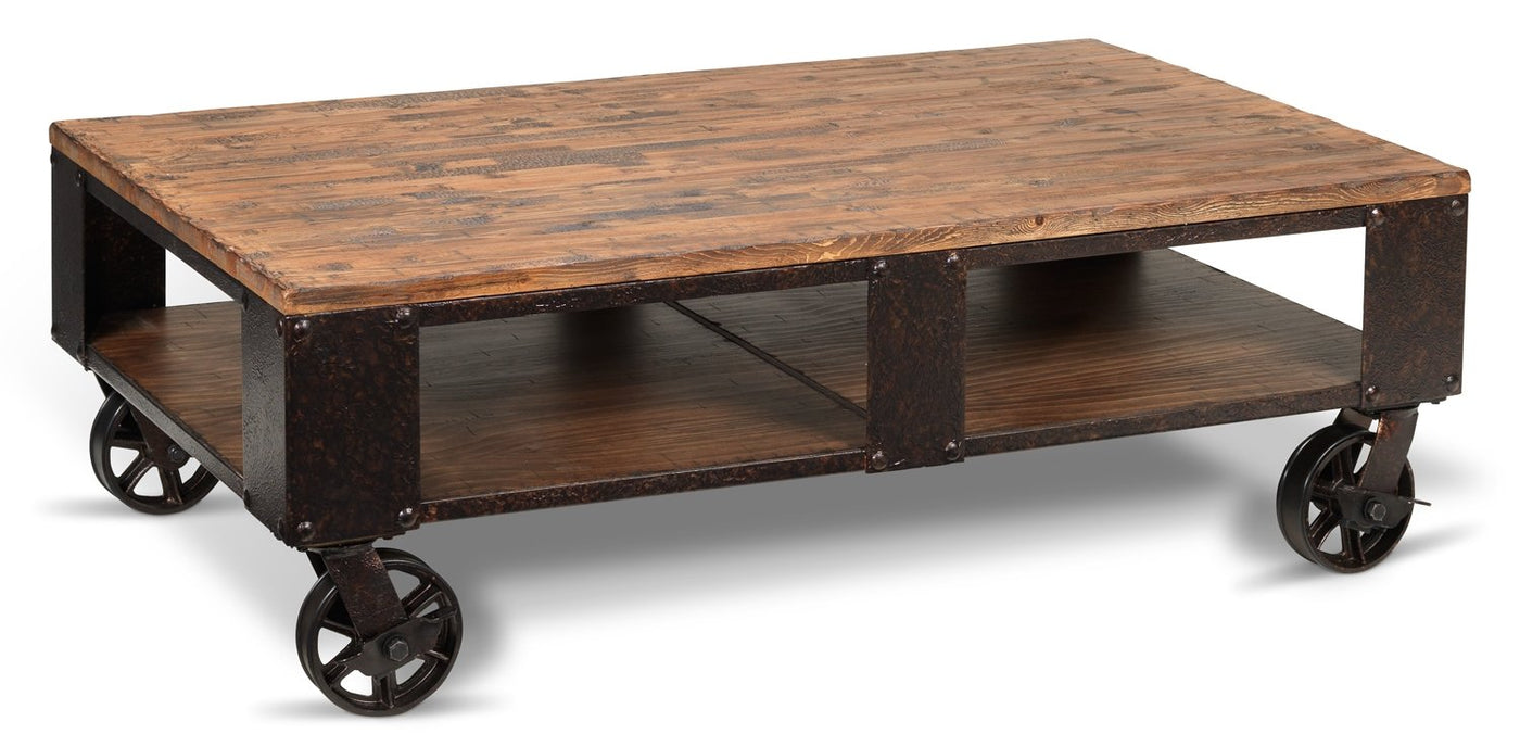 Pinebrook Coffee Table Distressed Natural Pine Leon S
