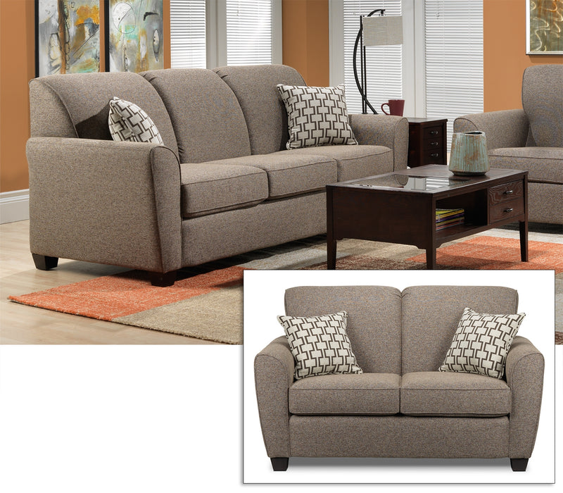 Ashby 2 Pc. Living Room Package - Brown