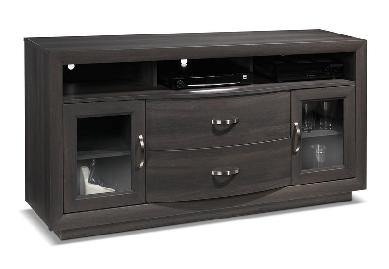 Dark Wood Tv Credenza : Dark wood tv cabinets large media credenza