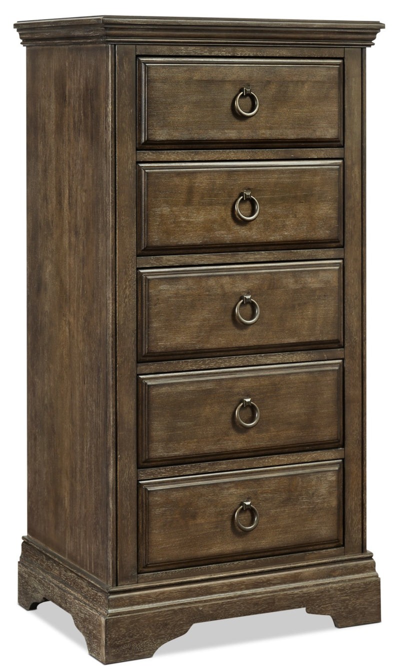 Riley 5-Drawer Pier Chest - Almond