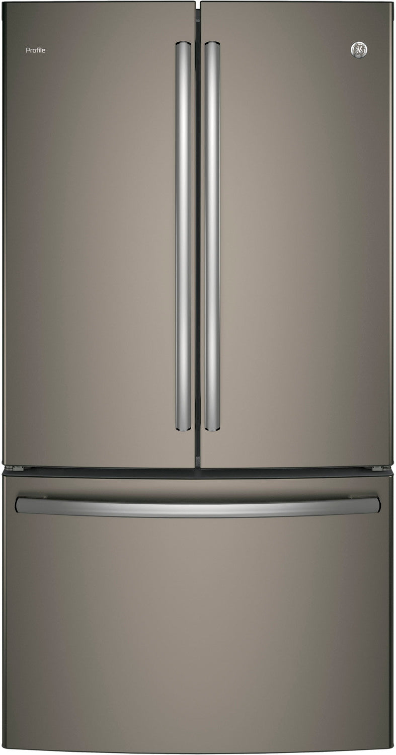 GE Profile Slate Counter-Depth French Door Refrigerator (23.1 Cu. Ft.) - PWE23KMKES