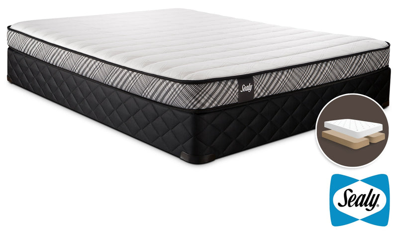 Sealy Notion Firm Queen Mattress and Split Boxspring Set