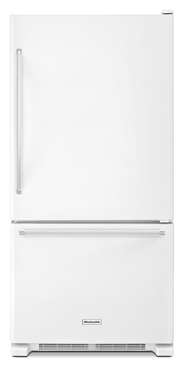 KitchenAid White Bottom-Freezer Refrigerator (18.7 Cu. Ft.) - KRBX109EWH