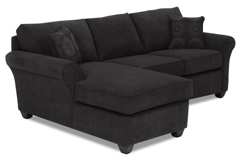 Althea 2-Piece Sectional with Left-Facing Chaise - Black