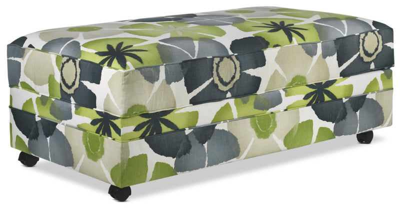 Halley Storage Cocktail Ottoman - Floral Print