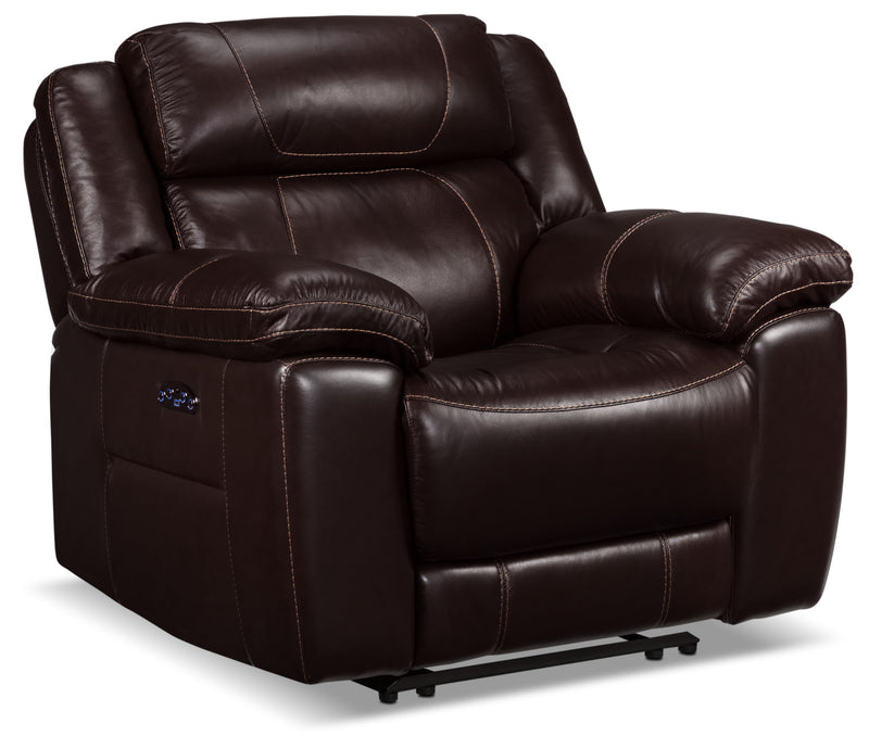 Solenn Power Recliner - Black Cherry