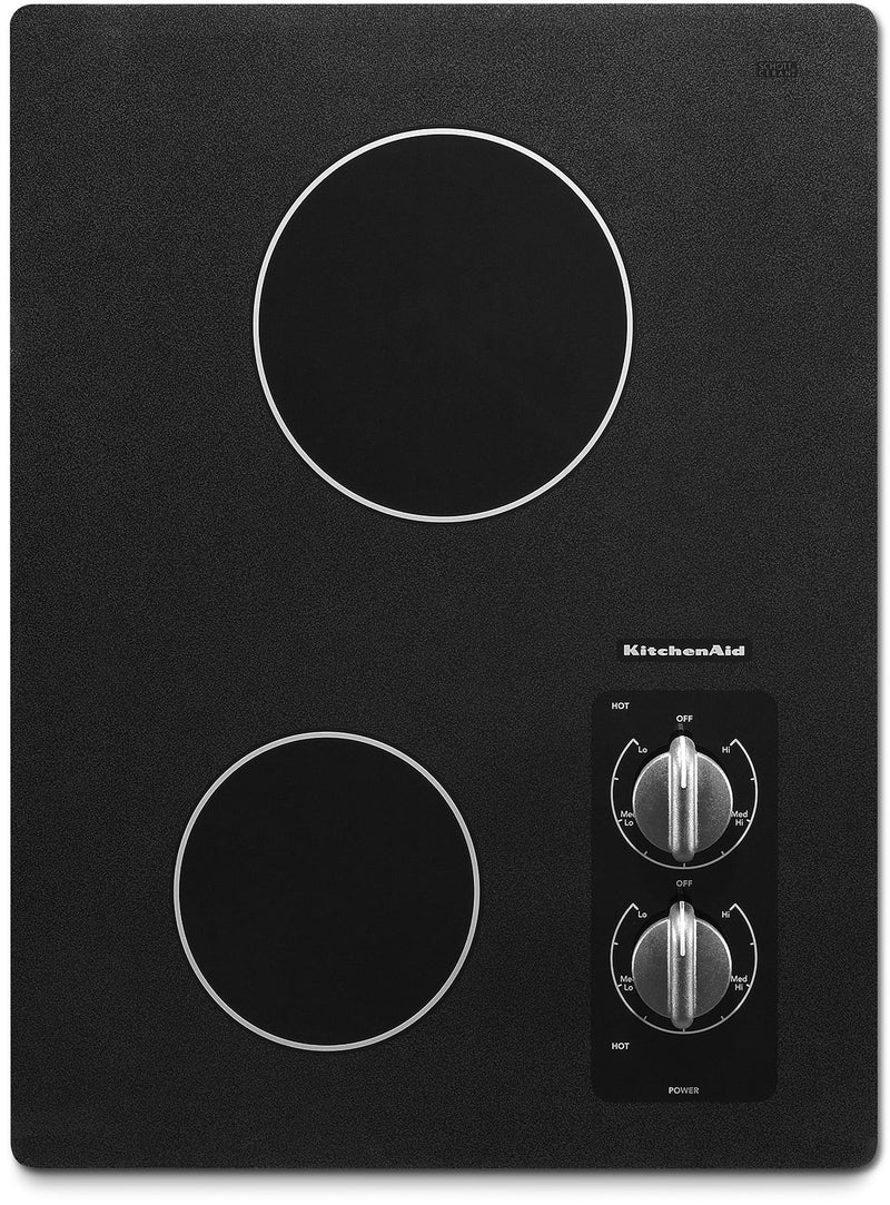 "KitchenAid Black 15"" Electric Cooktop - KECC056RBL"