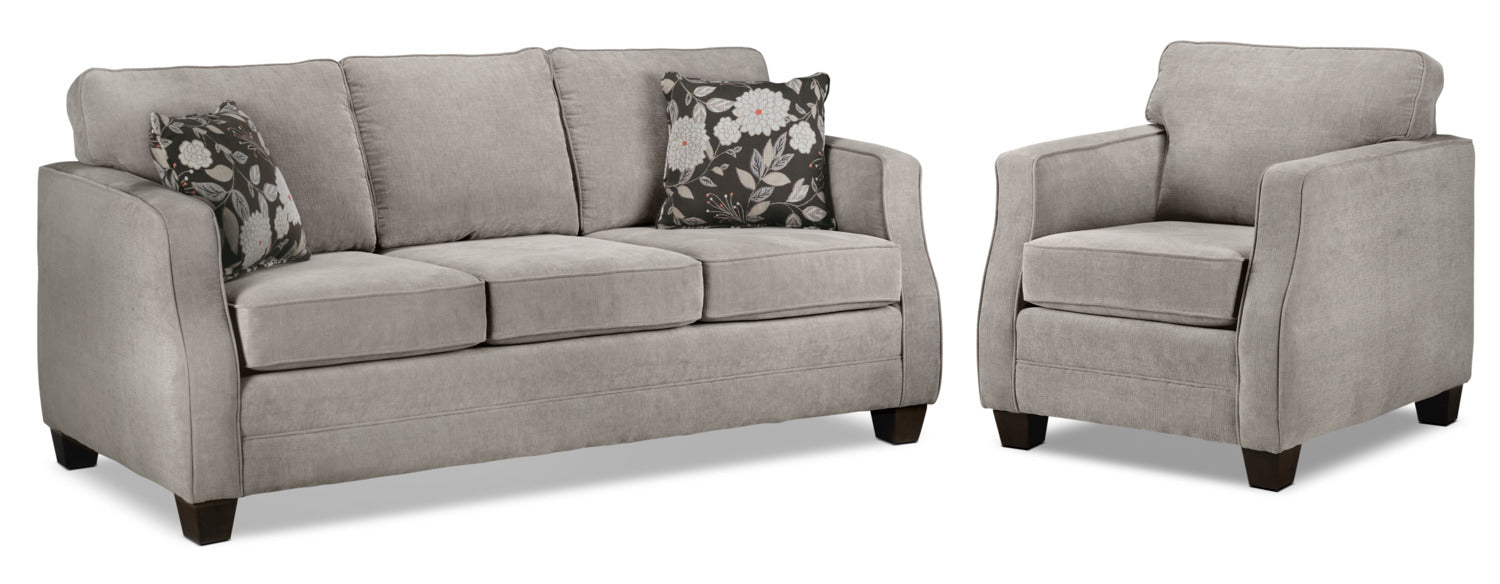 Agnes Sofa And Chair Set Taupe Leon S