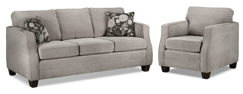 Image of Agnes Sofa and Chair Set - Taupe
