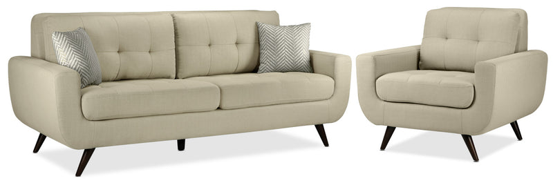 Julian Sofa and Chair Set - Beige