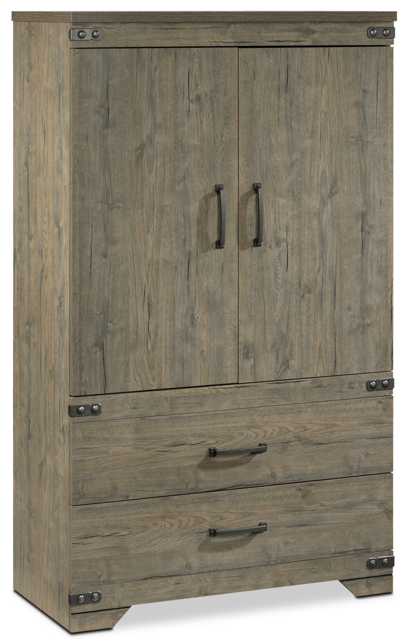 Gramado Armoire - Weathered Oak