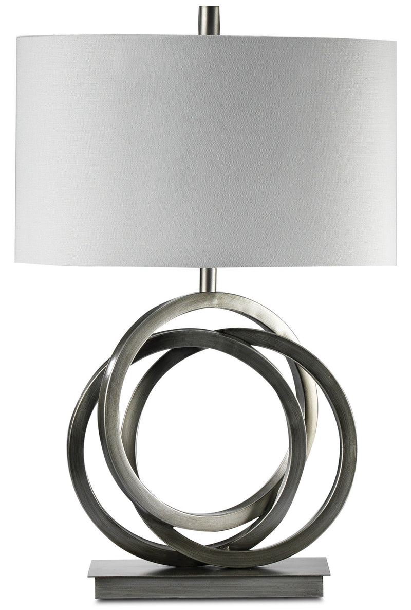 "Charm 24"" Table Lamp - Brushed Chrome"