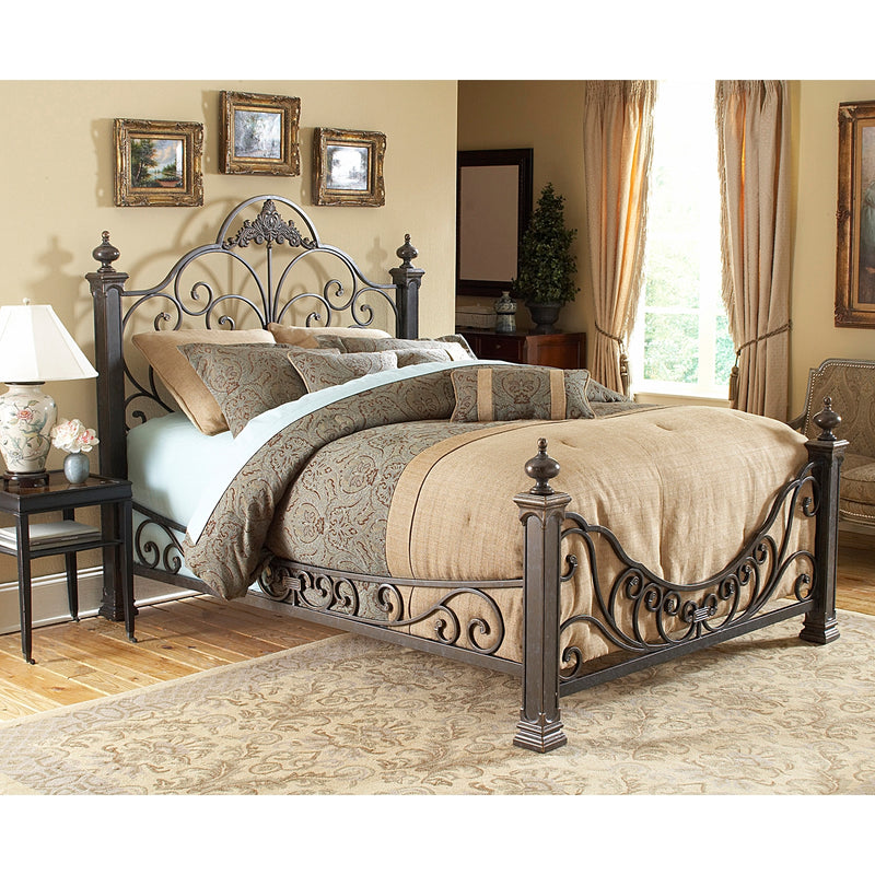Talon Queen Bed - Gilded Slate
