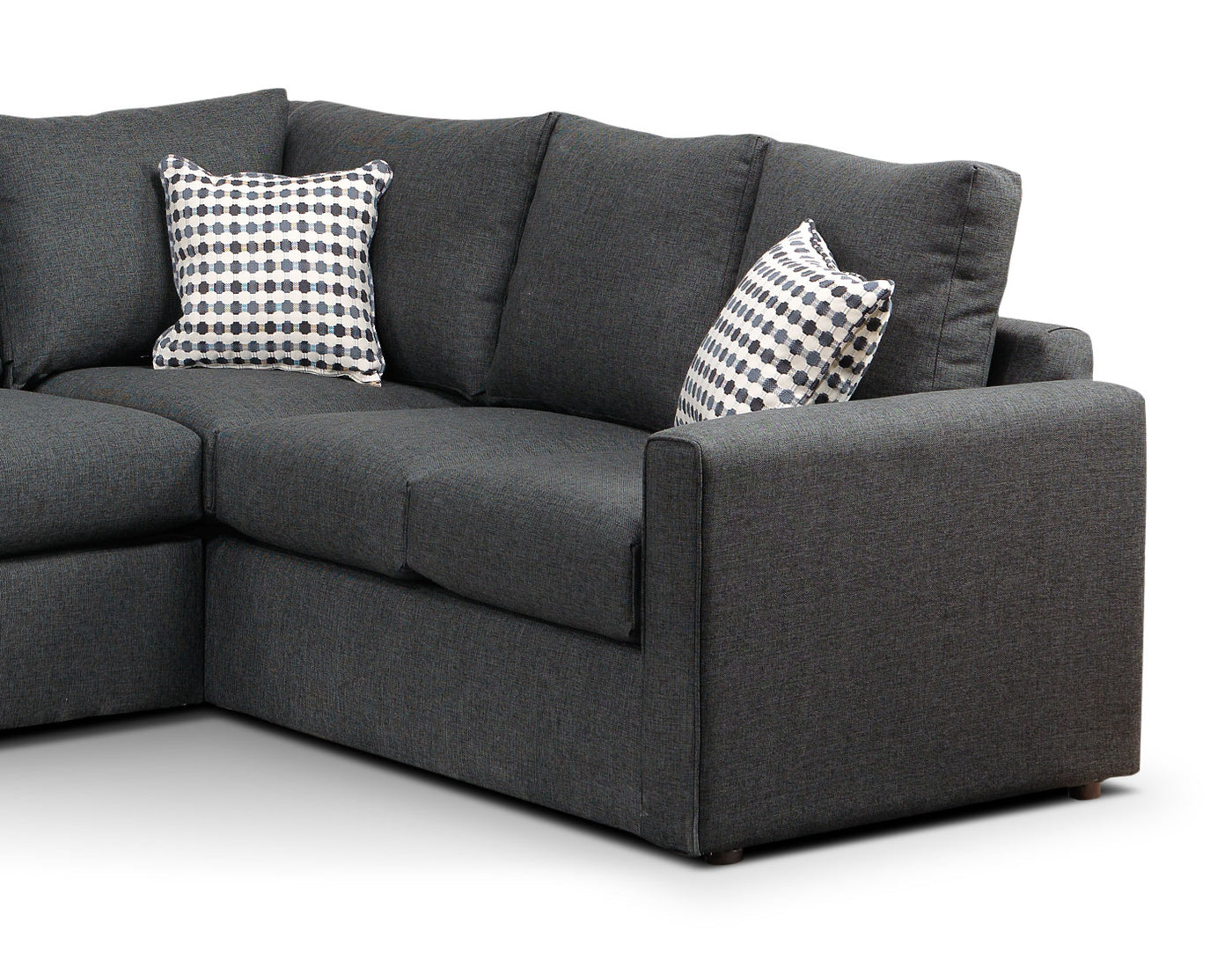 Athina 2 Piece Sectional With Left Facing Queen Sofa Bed Charcoal Leon S