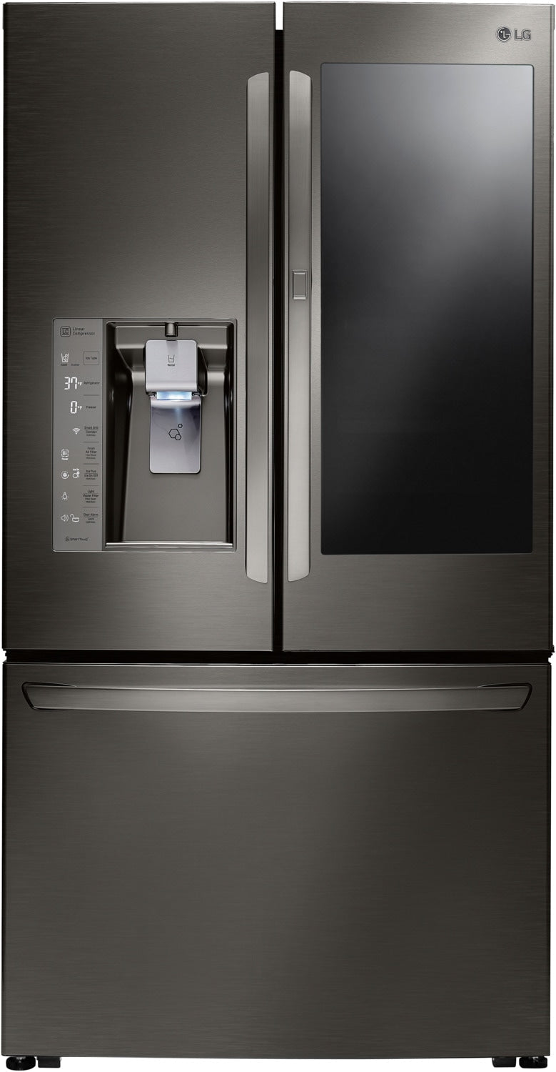 LG Black Stainless Steel Counter-Depth French Door Refrigerator (24 Cu. Ft.) - LFXC24796D