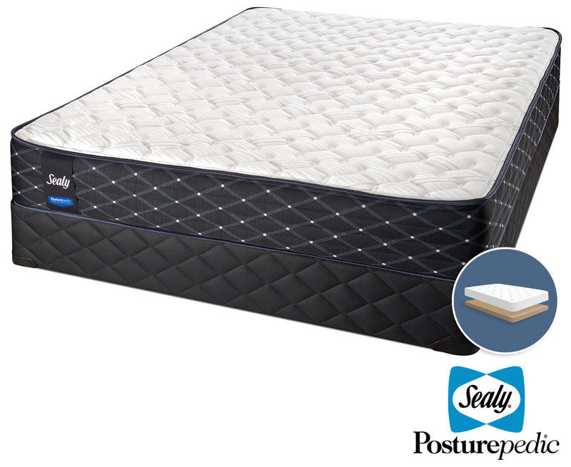 Sealy Innovate Extra Firm Full Mattress and Low-Profile Boxspring Set