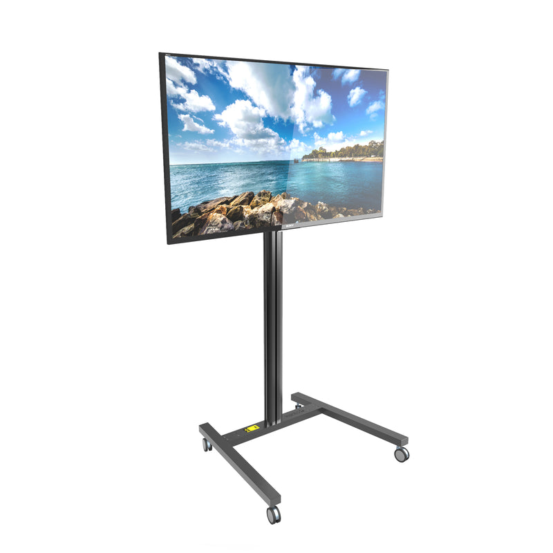 "Rolling Mobile TV Floor Stand for 37"" to 65"" TVs - MKH65"