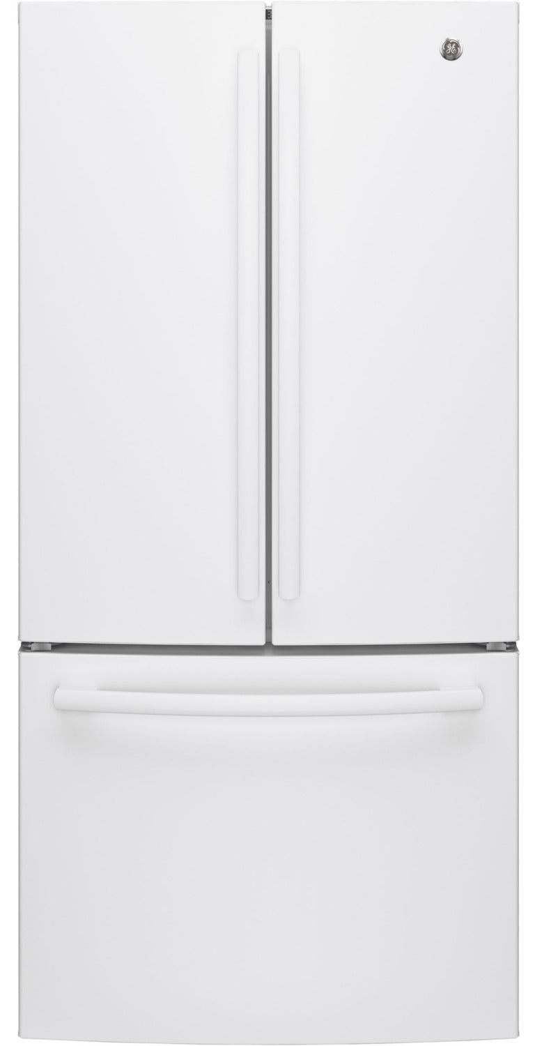 GE White Counter-Depth French Door Refrigerator (18.6 Cu. Ft.) - GWE19JGLWW