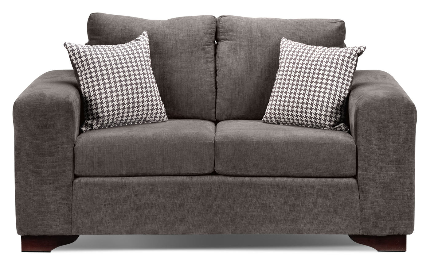 Picture of: Fava Loveseat Grey Leon S