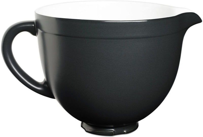 KitchenAid Matte Onyx Black 5-Quart Tilt-Head Ceramic Bowl - KSMCB5BM