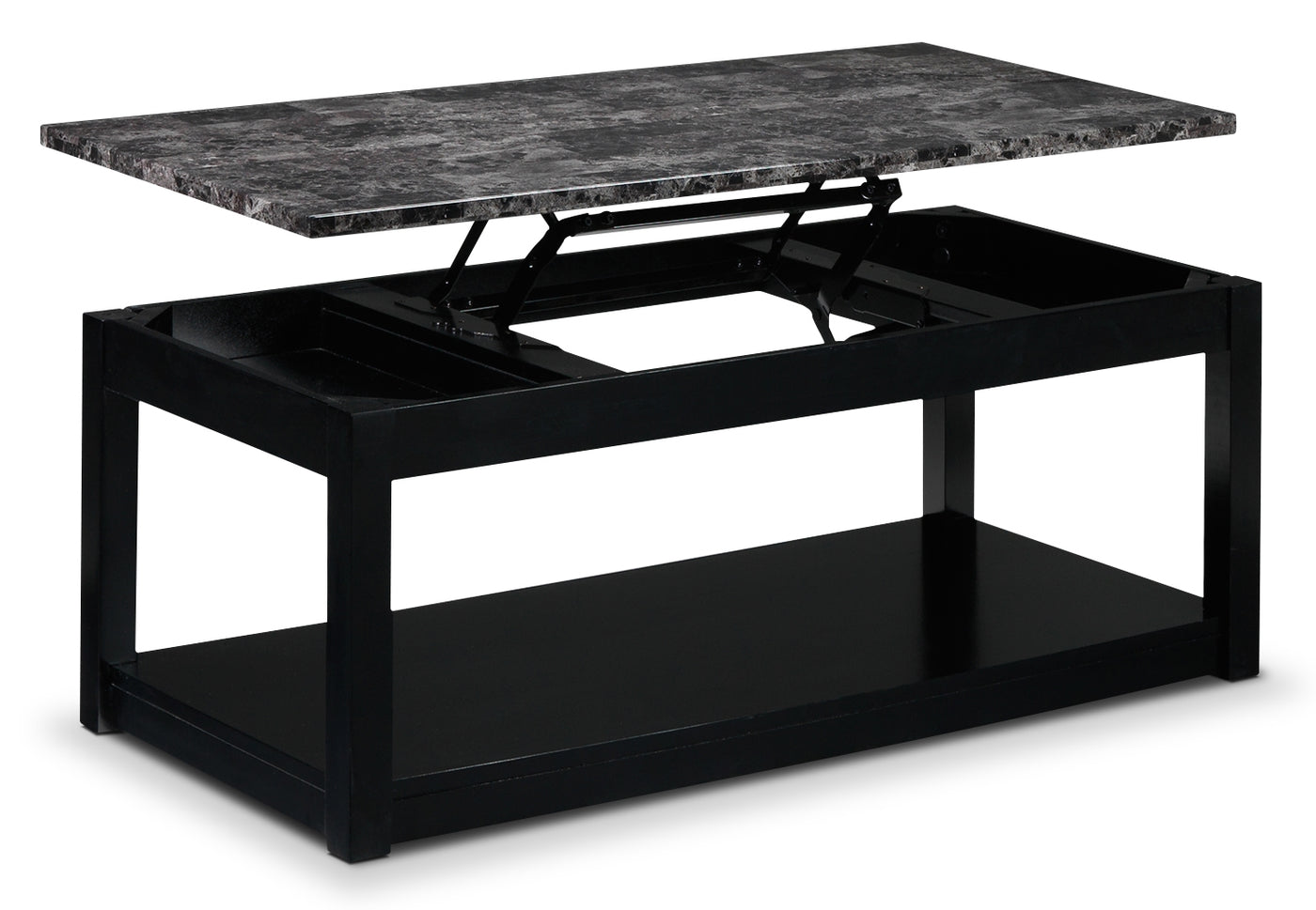 6574a5355dd Selena Lift-Top Coffee Table - Black. Touch to zoom