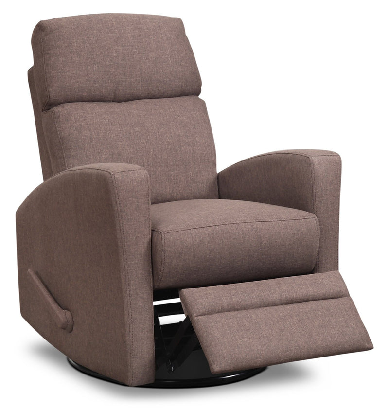 Nina Swivel Glider Recliner - Brown
