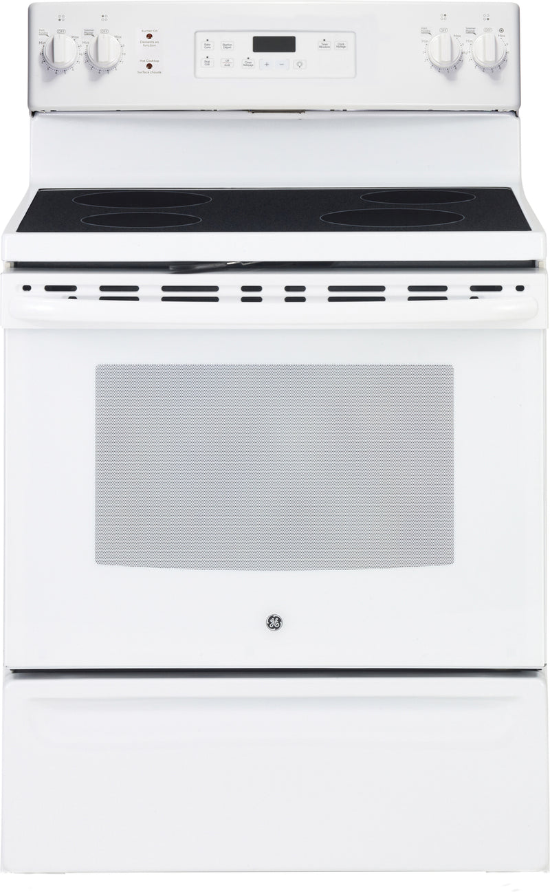 GE White Freestanding Electric Range (5.0 Cu. Ft.) - JCB630DKWW