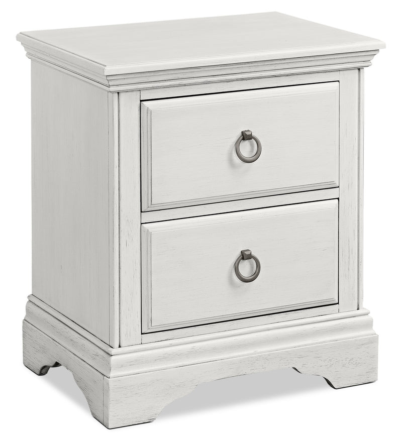 Riley Night Table - Brushed White