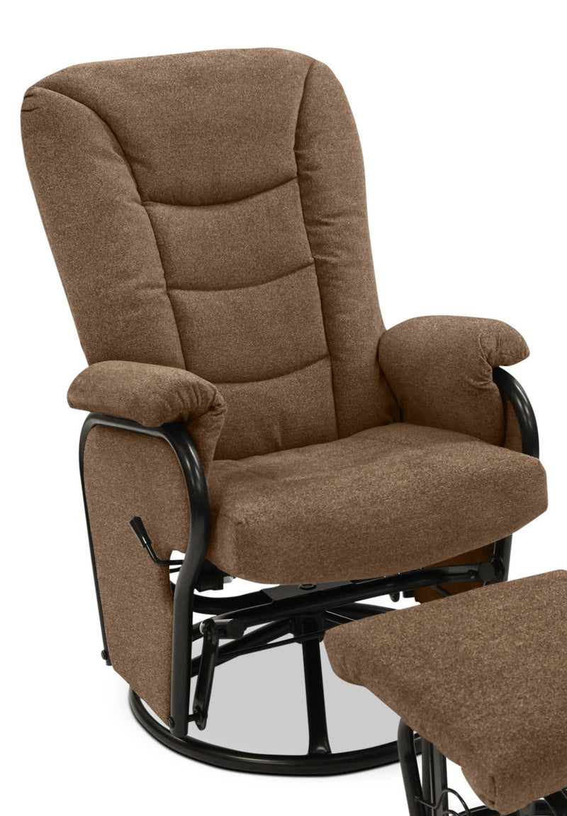 Hannah Swivel Glider Recliner - Brown